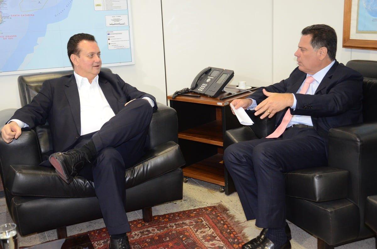 Marconi e o ministro Gilberto Kassab.(Foto: Mantovani Fernandes/Goiás Agora)