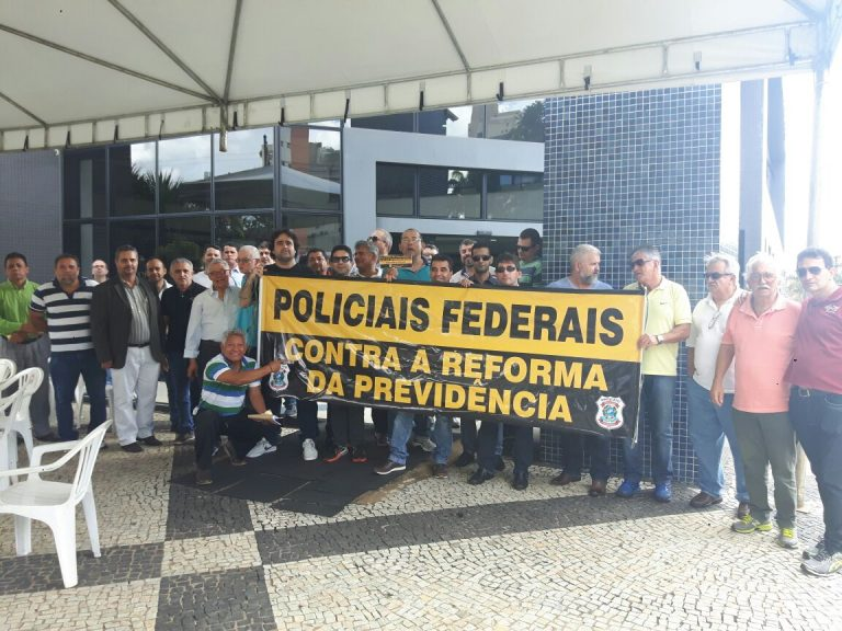 PF em Goiás anuncia indicativo de greve contra a reforma da previdência