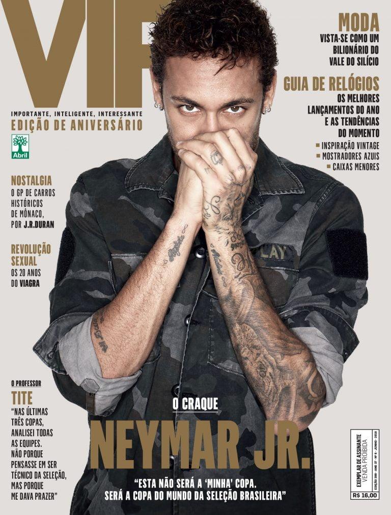 No mês da Copa, revista VIP faz aniversário e traz duas capas: uma com Neymar e outra com Tite