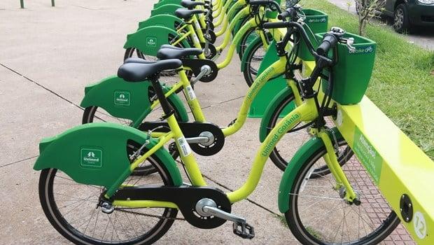 Bicicletas compartilhadas, locomoção e lazer