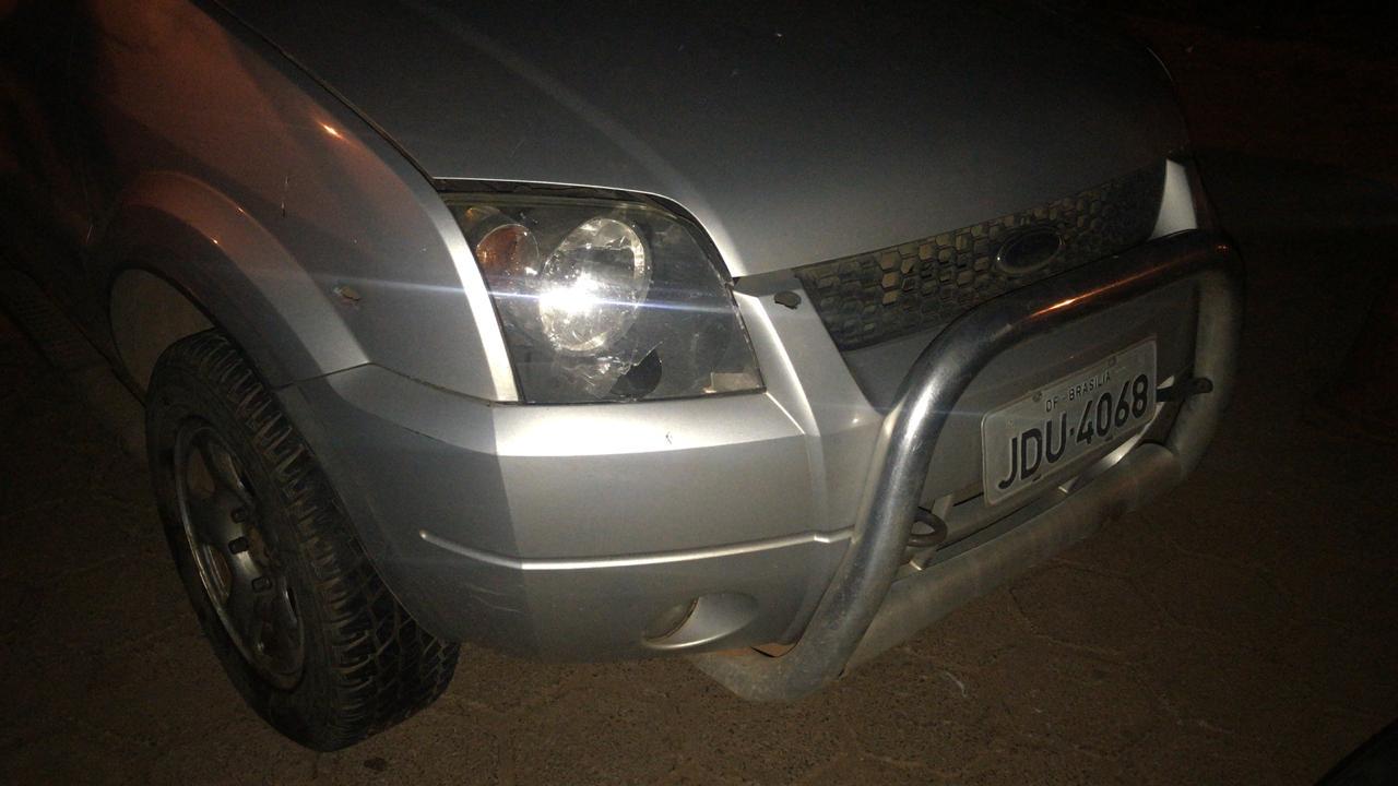 Veículo roubado em Valparaíso.  / Foto: ROTAM.