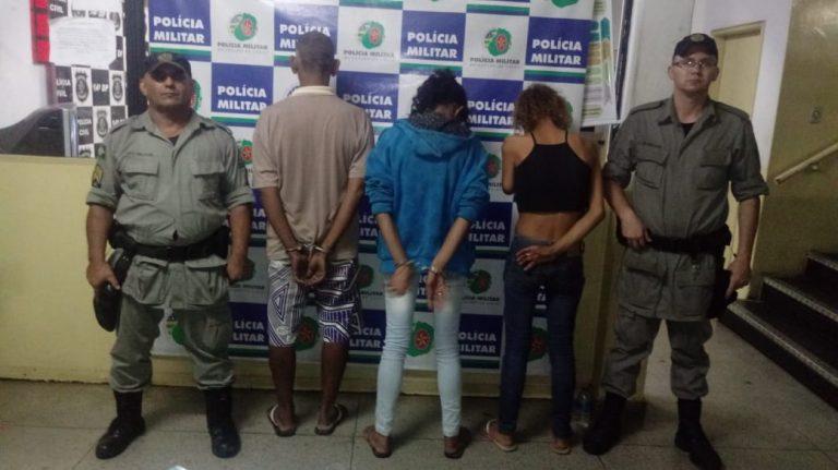 Três pessoas são presas por tráfico de drogas, em Goiânia