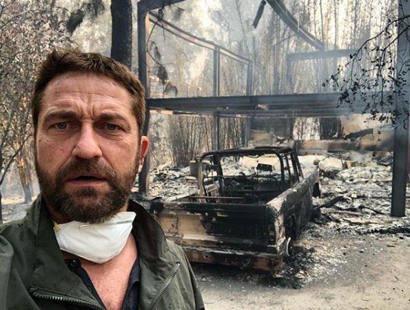 Gerard Butler tem casa destruída por incêndio que atingiu a Califórnia