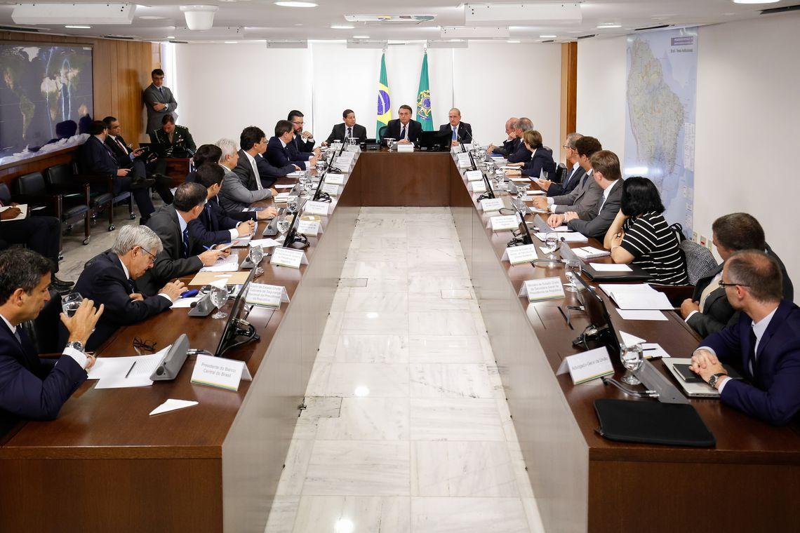 (Brasília - DF, 08/01/2019) Presidente da República, Jair Bolsonaro durante reunião do Conselho de Governo. Foto: Alan Santos/PR.