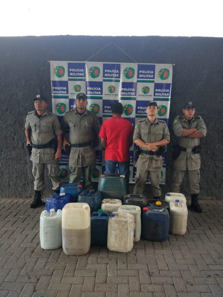 Polícia prende homem por comércio clandestino de combustíveis, em Goiânia