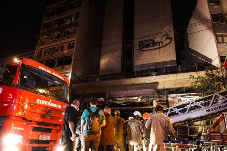 11 pessoas morreram após incêndio em hospital no Rio de Janeiro