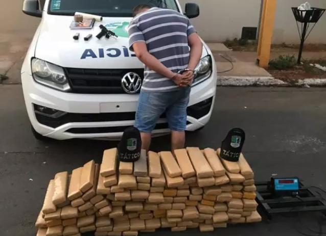 Homem é preso com 150 kg de maconha, em Goiânia