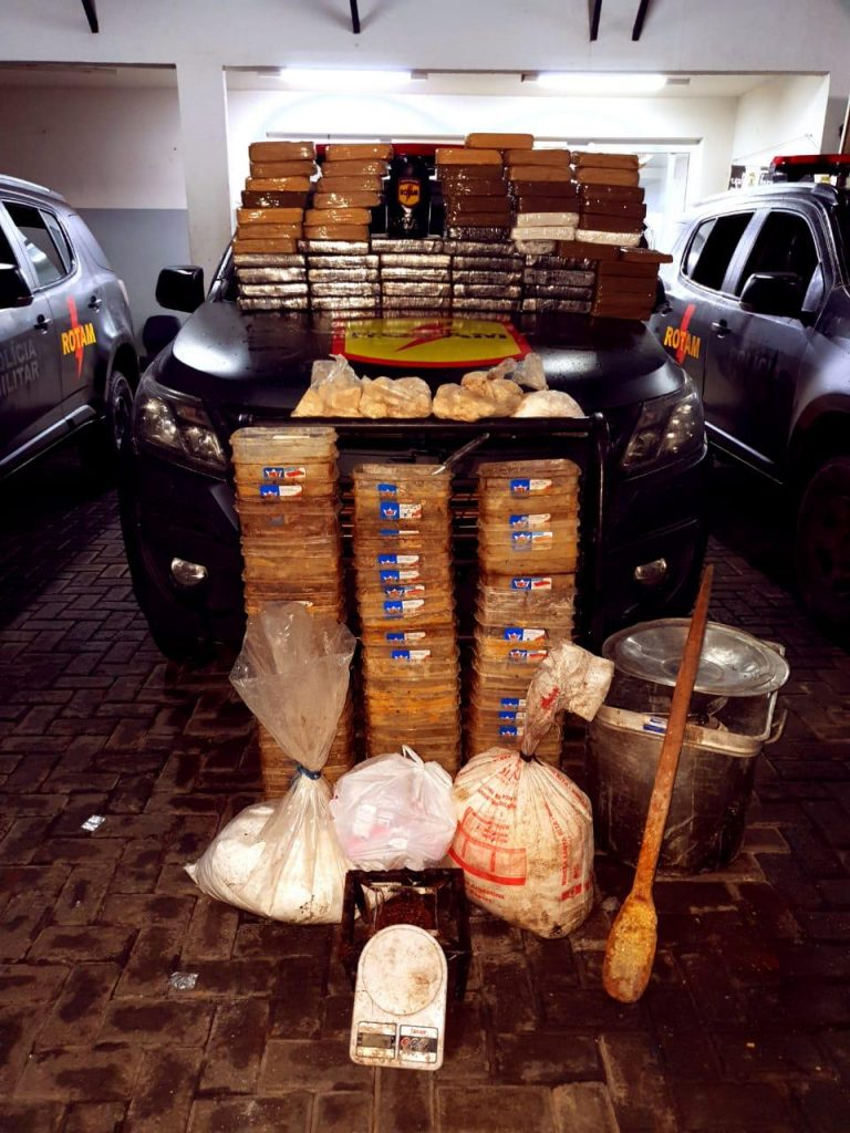 Rotam apreende mais de 100 quilos de drogas em Abadia de Goiás