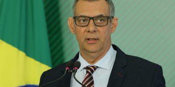 O porta-voz da Presidência da República, general Otávio Santana do Rêgo Barros, durante coletiva no Palácio do Planalto