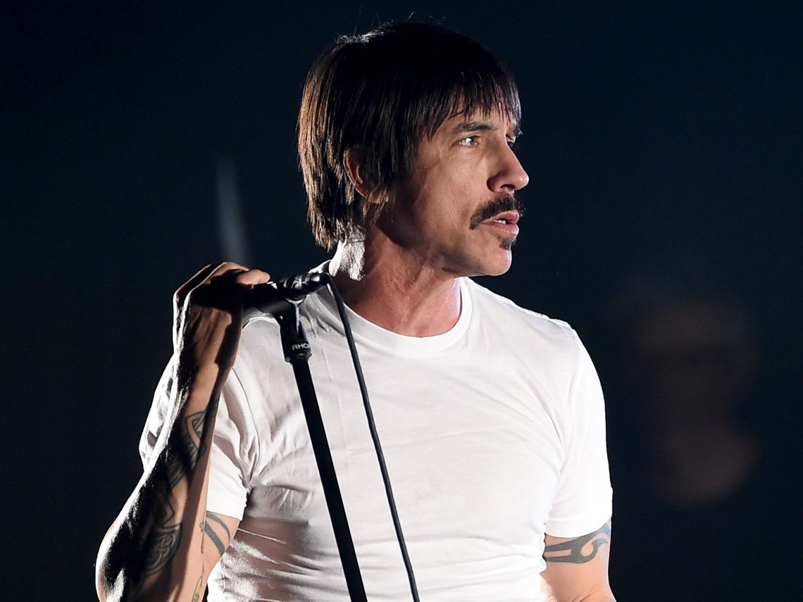 LOS ANGELES, CA - FEBRUARY 05:  Musician Anthony Kiedis of the Red Hot Chili Peppers performs onstage during the 'Feel The Bern' fundraiser concert to benefit presidential candidate Bernie Sanders at the Ace Theater Downtown LA on February 5, 2016 in Los Angeles, California.  (Photo by Kevin Winter/Getty Images for ABA)