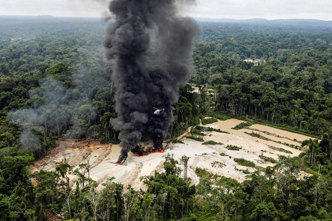"""Machines are destroyed at an illegal gold mine during an operation conducted by agents of the Brazilian Institute for the Environment and Renewable Natural Resources, or Ibama, in national parks near Novo Progresso, southeast of Para state, Brazil, November 5, 2018. REUTERS/Ricardo Moraes   SEARCH """"IBAMA MORAES"""" FOR THIS STORY. SEARCH """"WIDER IMAGE"""" FOR ALL STORIES. TPX IMAGES OF THE DAY."""