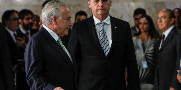 (Brasília - DF, 07/11/2018) Presidente da República, Michel Temer, e Jair Bolsonaro, Presidente da República eleito,  chegam para declaração à imprensa. Foto: Alan Santos/PR